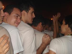 Erick (Cortado), Ênio (Dono da Câmera), Mário, e amigos desconhecidos